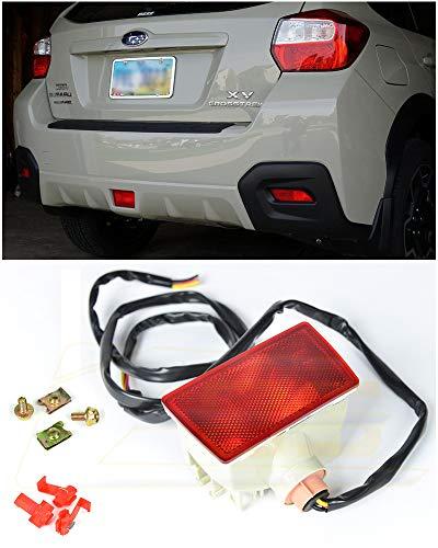 Extreme Online Store for 2011-2014 Subaru Impreza WRX & STi / 2013-Present Subaru XV Crosstek | EOS Crystal RED Lens JDM Rear Driving Fog Light Reverse Back Up Tail Lamp