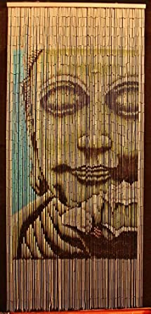 Amazoncom Bamboo Beaded Curtain Buddha Doorway Room Divider 90