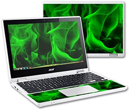 and Change Styles Protective and Unique Vinyl Decal wrap Cover MightySkins Skin Compatible with Acer Chromebook R11 Easy to Apply Green Flames Durable Remove Made in The USA