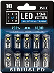 SIRIUSLED Extremely Bright 3030 Chipset LED Bulbs for Car Interior Dome Map Door Courtesy License Plate Lights