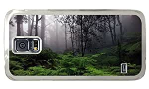Hipster Samsung Galaxy S5 Cases retro rain forest PC Transparent for Samsung S5