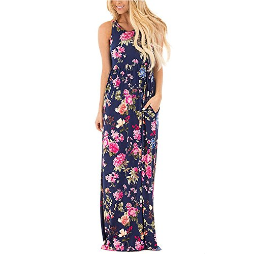 2017 Summer Elegant Floral Printed Bodycon Dress-Pink - 2