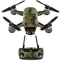 Skin for DJI Spark Mini Drone Combo - Army Star| MightySkins Protective, Durable, and Unique Vinyl Decal wrap cover | Easy To Apply, Remove, and Change Styles | Made in the USA