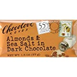 Chocolove 55 Percent Cocoa Almond and Sea Salt Dark Chocolate Bar, 3.2 Ounce -- 12 per case.