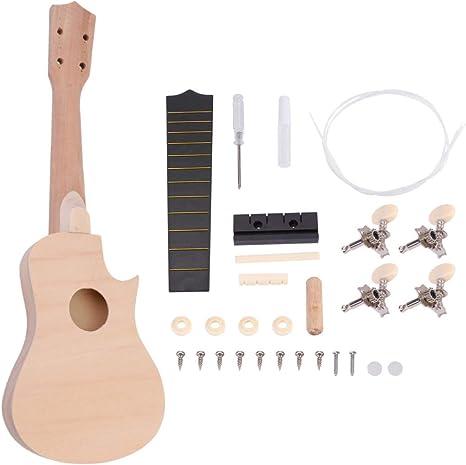 HEALLILY Ukelele Diy Kit Madera Hawaii Guitarra para Pintar ...