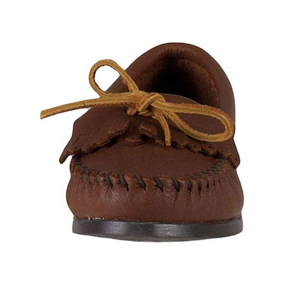 Minnetonka Mens Butter Kiltie Leather Round Toe Moccasins