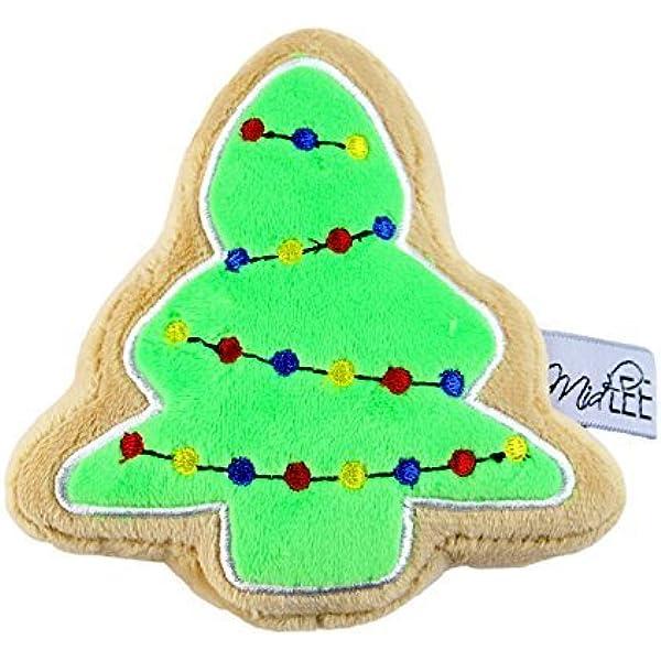 Pet Supplies Midlee Christmas Sugar Cookie Plush Dog Toy Christmas Tree Large Amazon Com