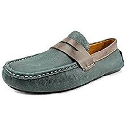 Penny Driver Men US 9.5 Blue Loafer