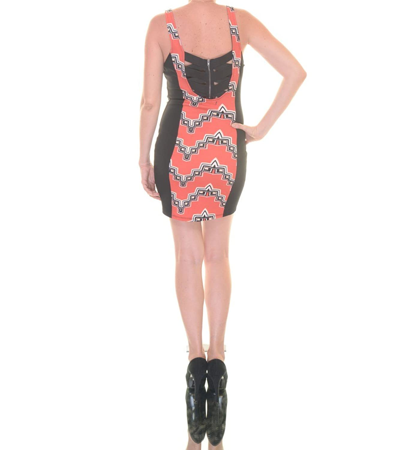 Material Girl Printed Bodycon Dress Rose size Small