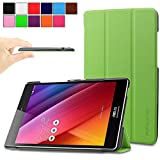 Infiland Asus Zenpad S 8.0 (Z580C/Z580CA) Case, Ultra Slim Lightweight Tri-Fold Stand Case Cover for 2015 Released ASUS ZenPad S 8 Z580C / Z580CA 8-Inch Tablet (ASUS Zenpad S 8.0 Shell, Green)