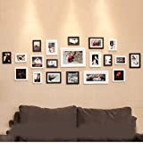 Photo frame wall 20 box European black and white photo wall creative combination of living room European and American photo frame wall Photo Wall ( Color : Black and white )