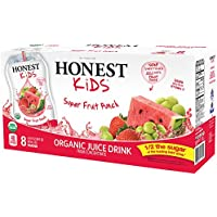 32-Pack Honest Kids Organic Juice Drink Super Fruit Punch 6.75 fl oz Pouches
