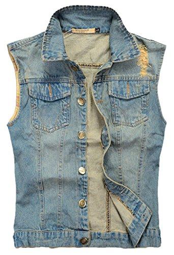 Uomo Annata 811 Camionista Cowboy Jeans Gilet Cappotti Denim Giacca Sawadikaa xa4TPnP