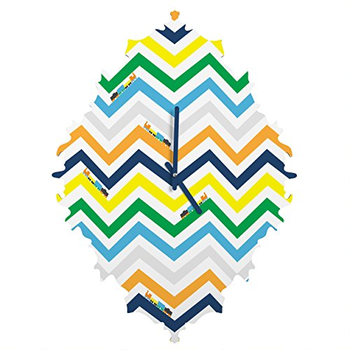 Deny Designs Vy La, Train Chevron, Baroque Clock, Medium by Deny Designs