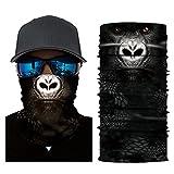 Glumes Face Mask Half Sun Dust Protection|Vivid 3D Animal Tube Mask Seamless|Durable Face Mask|Bandana Skeleton Face Shield|Motorcycle Fishing Hunting Cycling Halloween Party (I)