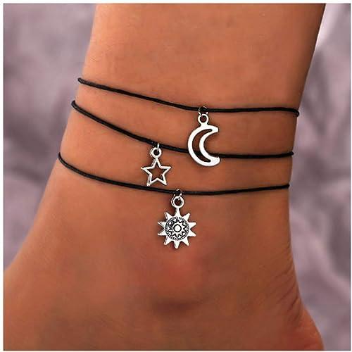 """11/"""" Beach Sandal Ankle Foot Bracelet 925 Sterling Silver Turtle style shape 9/"""""""