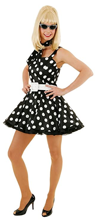 d5da6a2fde5127 Karneval-Klamotten 50er Jahre Rock and Roll Mini Kleid Rock n Roll Kostüm  Damen 50er Jahre Kostüm Damen-Kostüm Größe 42  Amazon.de  Spielzeug