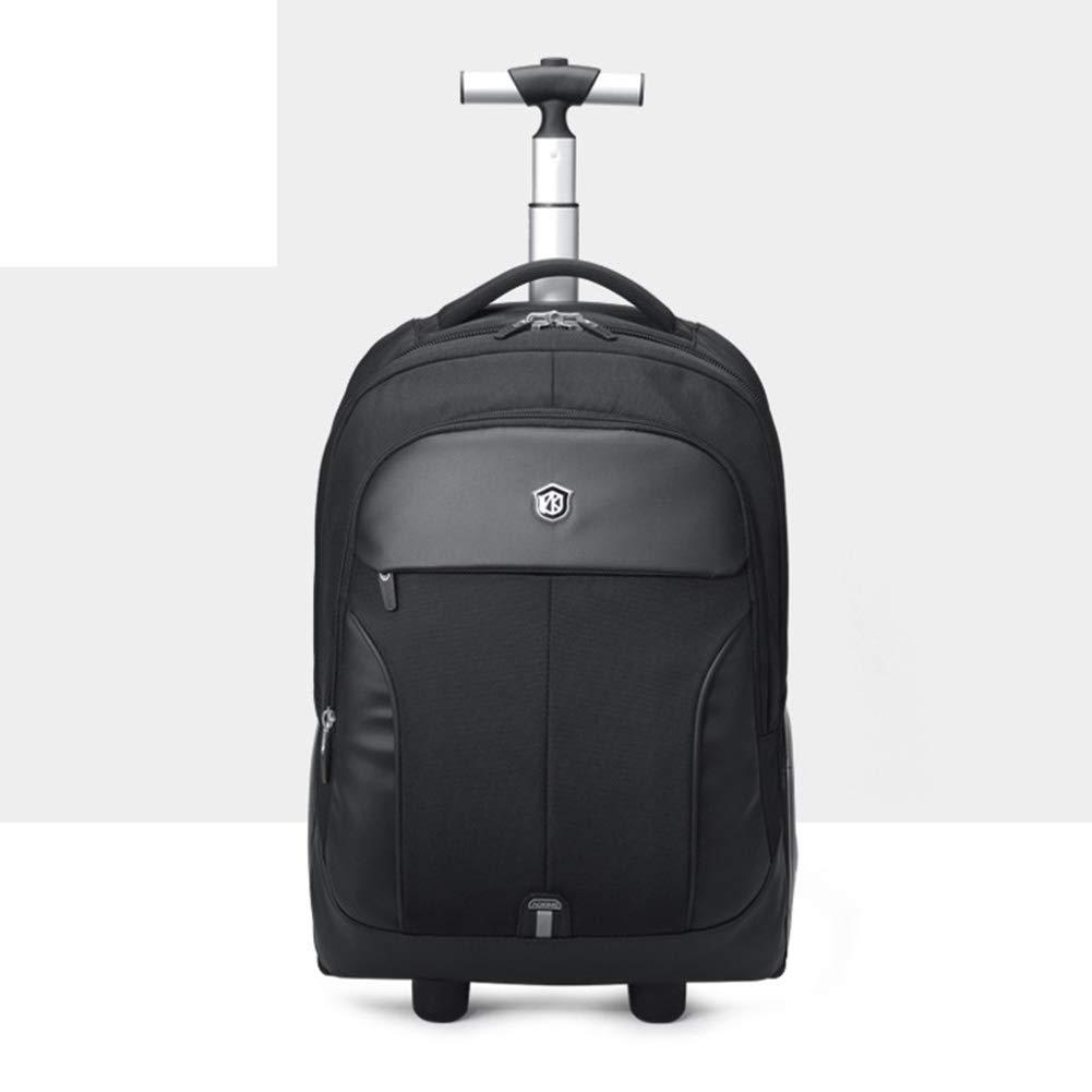 トロリーバッグ、スタイリッシュなパーソナリティ大容量のトロリーバッグ、超軽量大型ホイール防水トロリーバッグ(黒) B07SB358RL