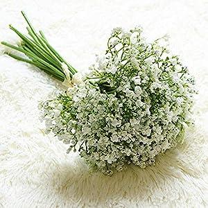 16Pcs/Set Babies Breath Artificial Flowers Fake Gypsophila DIY Floral Bouquets Arrangement Wedding Home Garden Party Decoration 81