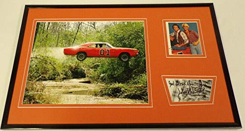 Dukes of Hazzard Cast Signed Framed 12x18 Photo Display Wopat Schneider ()