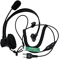 SUNDELY Over-Head Earpiece/Headset with Boom Mic &VOX for Midland/Alan GMRS/FRS GXT/LXT 2 Two Way Radios 2-pin Jack