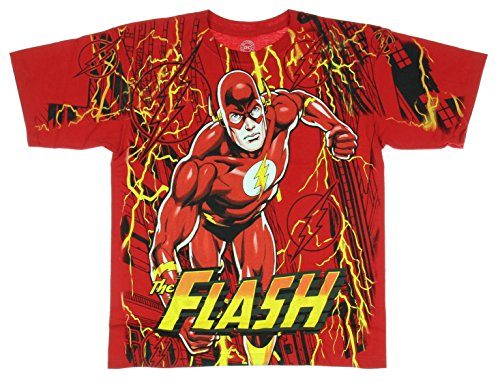 DC Comics The Flash Lightning Fast Boys T-shirt (Medium, 8)