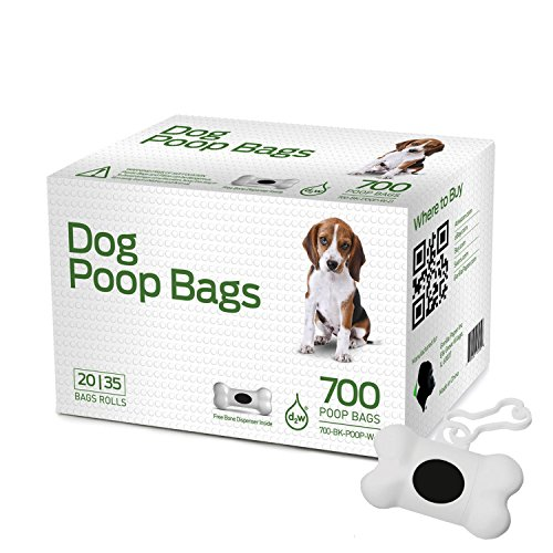 Gorilla Supply 700 Dog Pet Waste Poop Bags Black with Dispenser 9' x 14' (2 Inches Longer)