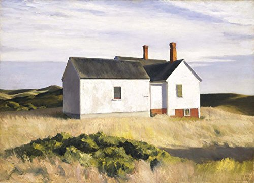 Hopper Painting - Quality Prints - Laminated 19x14 Vibrant Durable Photo Poster - Philip Koch Paintings Edward Hoppers Truro Studio Kitchen