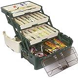 PLANO Tackle Systems Hybrid Hip 3 Tray Box, White/Blue