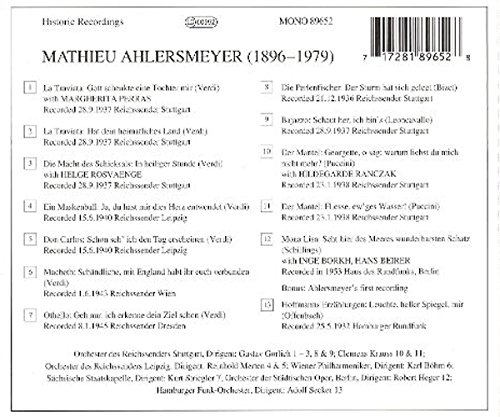 VARIOUS ARTISTS - Legendary Voices of the Past: Mathieu Ahlersmeyer - Amazon.com Music