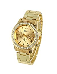 Dress watches women top brand Fashion Diamond Dial Gold Steel gold simple design ladies watches woman