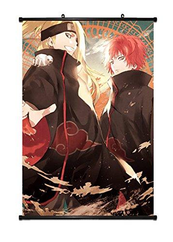 [CosEnter Naruto Deidara Sasori Poster Wall picture Scroll Painting] (Naruto Deidara Cosplay Costume)