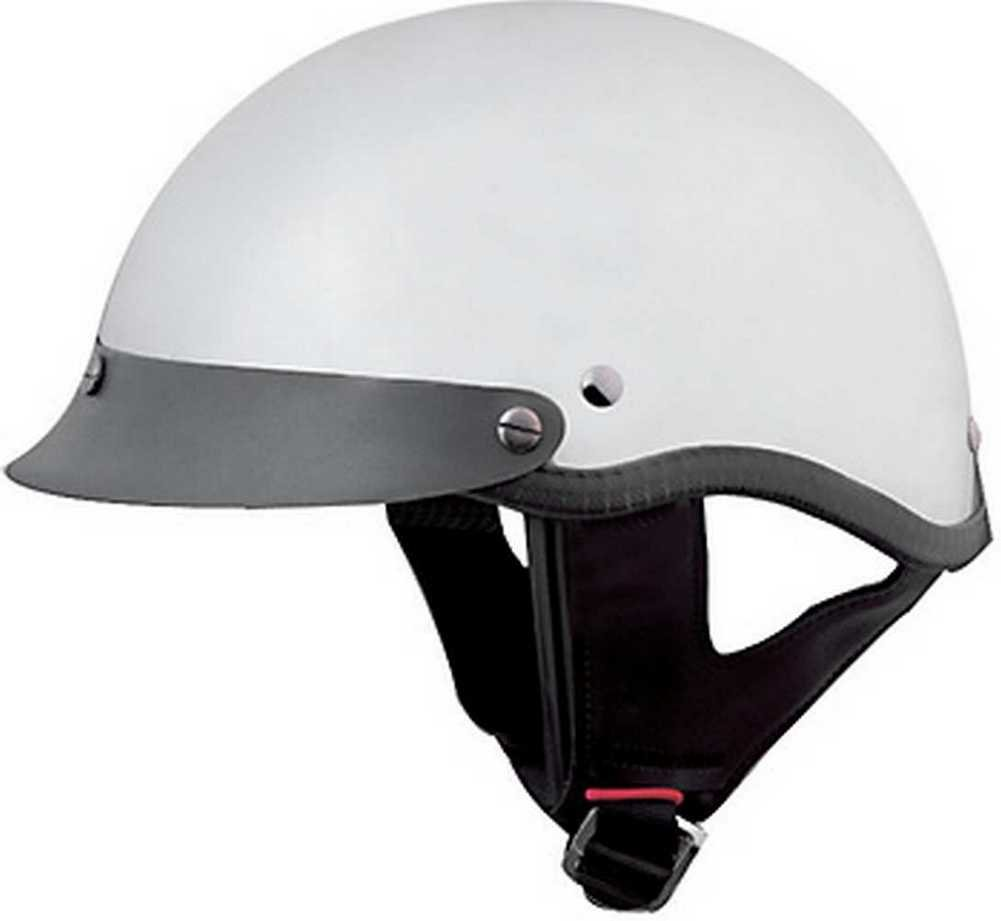 HCI Mirrored Chrome Motorcycle Half Helmet with Visor - ABS Shell 100-118 (XS) by HCI