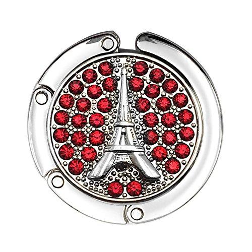 Handbag Eiffel Tower Accent Table Hook Purse Hanger (Red)