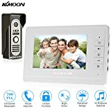 """Wired Video Door Phone, KKmoon High Definition 7"""" Visual Intercom Doorbell Monitor with 1pcs 700TVL Outdoor Camera support Unlock Infrared Night View Rainproof for Home Security Surveillance"""