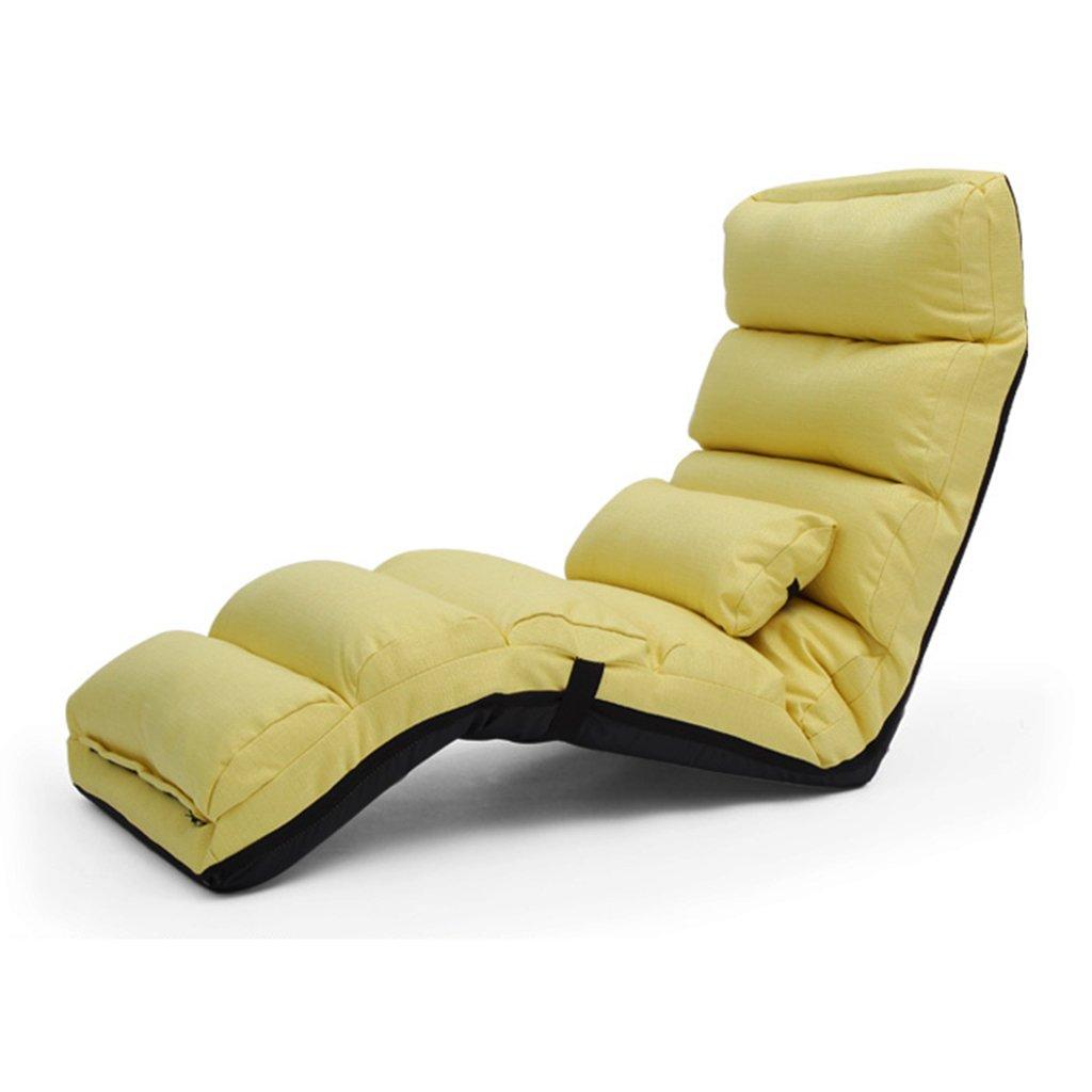 JH Tatami Klappliege Lazy Couch Freizeit Sofa Stuhl Erker Klappsofa Siesta Liege Multi-Gang-Einstellung für Gewicht 100kg