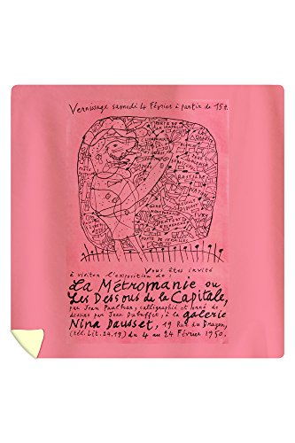 Price comparison product image La Metromanie ou les Dessous de la Capitale Vintage Poster (artist: Dubuffet) France c. 1950 (88x88 Queen Microfiber Duvet Cover)