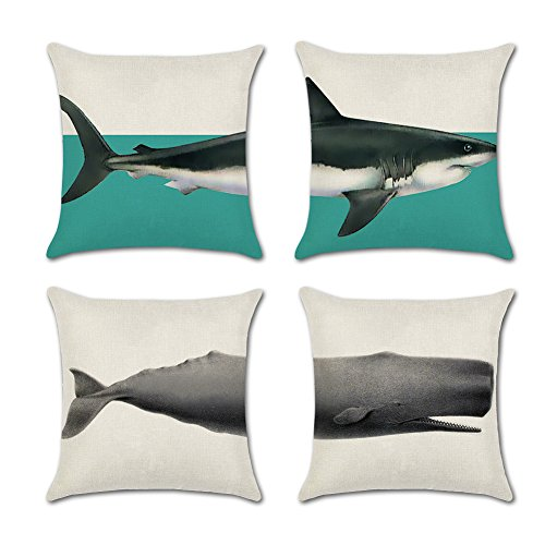 IFANER Throw Pillow Covers Decorative Pillowcases 18x18inch (4 Pieces Set) Pillow Cases Home Car Decorative