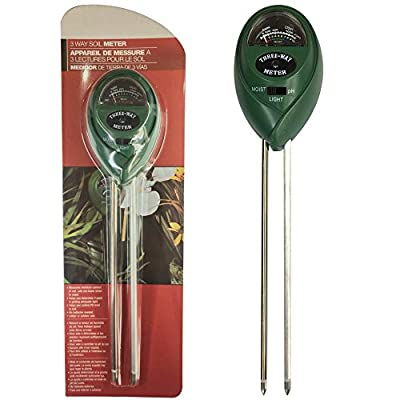 3-in-1 Soil Tester Meter (Moisture, PH acidity & Light Tester),Suitable For Houseplants, Outdoor Plants, Bonsais, Succulents, Trees, Grass and Lawn?Indoor/Outdoors to Use, Easy Read Indicator (No Ba