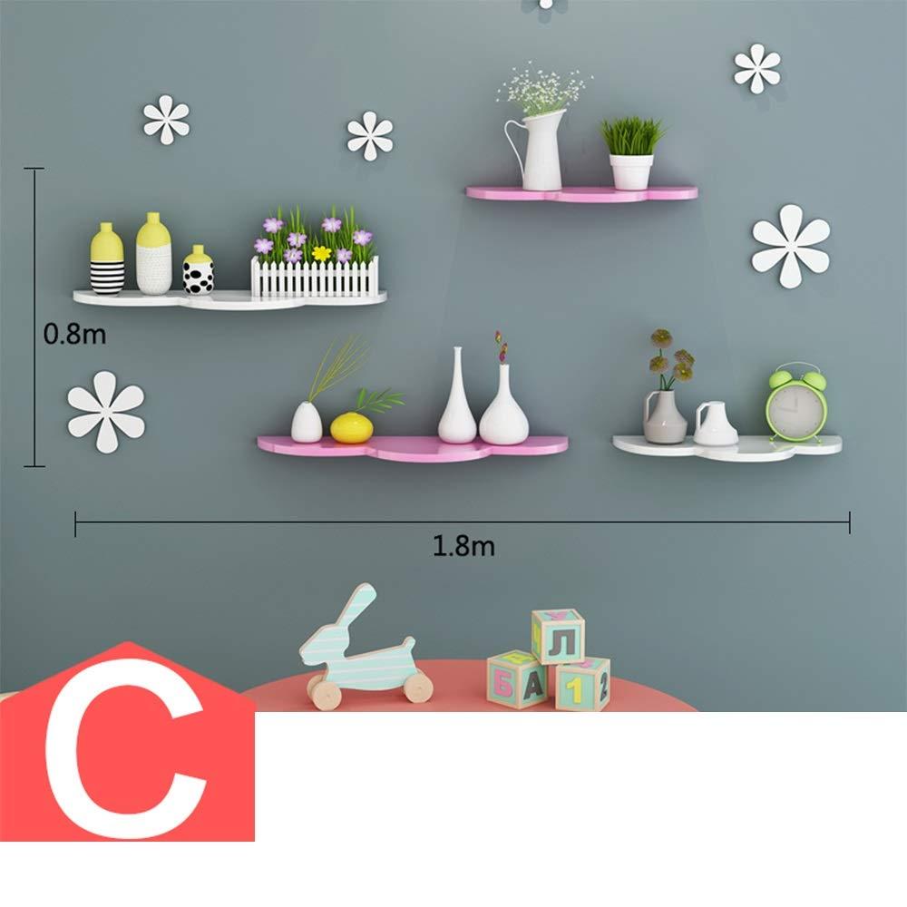 Amazon.com: Shelves Xiaomei Cloud Type Wall Rack Children\'s Room ...