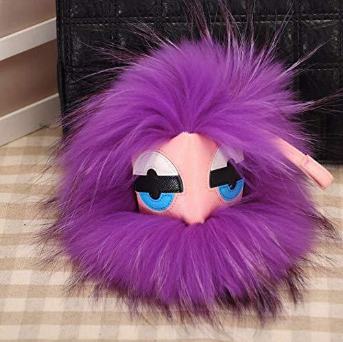 Sunshine Fur Monster Bugs ポンポン 人形 ボール キーリング キーホルダー バッグチャーム 18-20CM USD 18-20CM 1 B07HQSMKBX