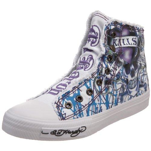 Ed Hardy Womens Highrise Sneaker White-10shr104w