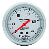 "Auto Meter 4411 Ultra-Lite 2-5/8"" 0-15 PSI Mechanical Fuel Pressure Gauge"