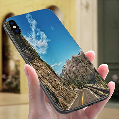 Creative iPhone Case for iPhone Xs MAX Yellowstone National Park East Entrance Burned Trees on Mountain Resistance to Falling, Non-Slip,Soft,Convenient Protective Case