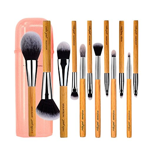 Makeup Brush Set 12 pieces Cruelty Free Full Function Face Cheek Eyes Lips Beauty Tools Kit with Case (Ysl Concentrate)
