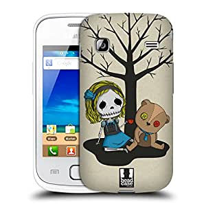 Head Case Designs Tea Time Skull Kids Protective Snap-on Hard Back Case Cover for Samsung Galaxy Gio S5660