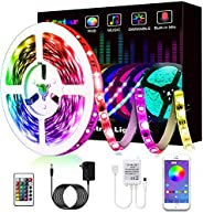 L8star Color Changing Light Strips SMD 5050 RGB LED Lights with Bluetooth