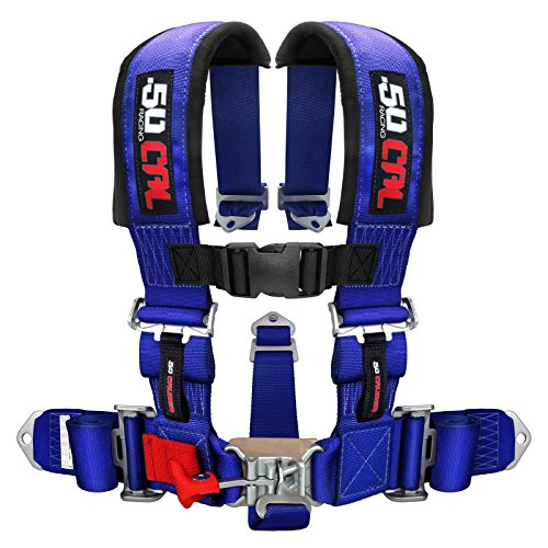 50 Caliber Racing Blue 5 Point Harness with 3