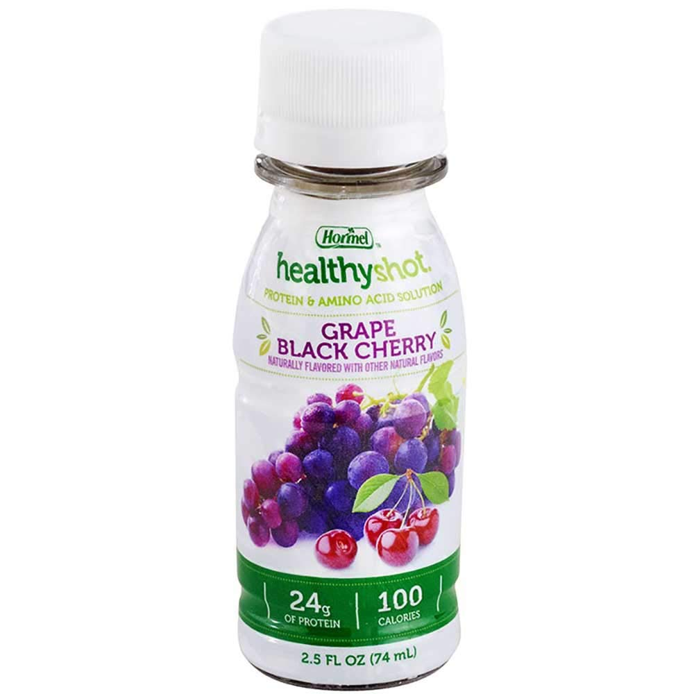 Healthy Shot Protein & Amino Acid Supplement, Grape Black Cherry, 2.5 Ounce, 24 Count