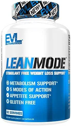 Evlution Nutrition Lean Mode Stimulant-Free Weight Loss Support, Diet System with Garcinia Cambogia, Carnitine, CLA, and Green Tea Leaf extract (50 Servings)